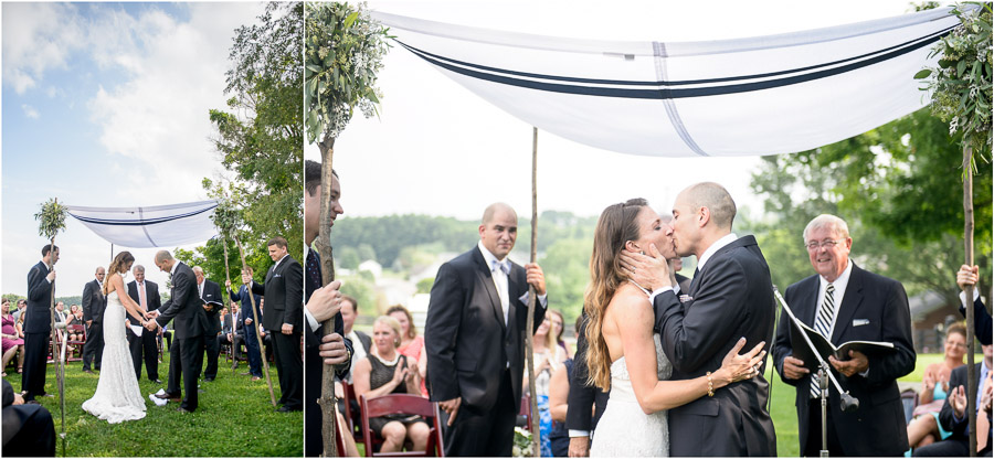 Lovely outdoor Jewish wedding ceremony in Bloomington photographed by TALL+small.