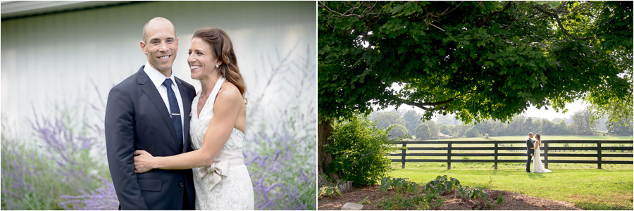 Cute outdoor wedding portraits at Sycamore Farm by TALL+small.