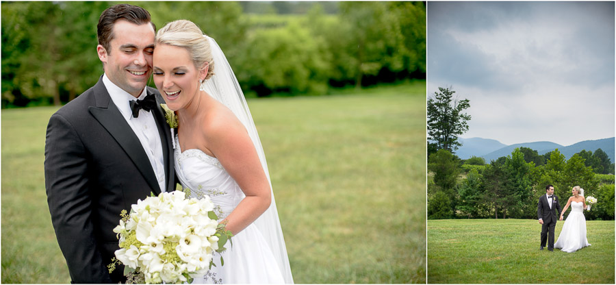 Gorgeous wedding couple and beautiful scenery at Veritas Vineyards Wedding