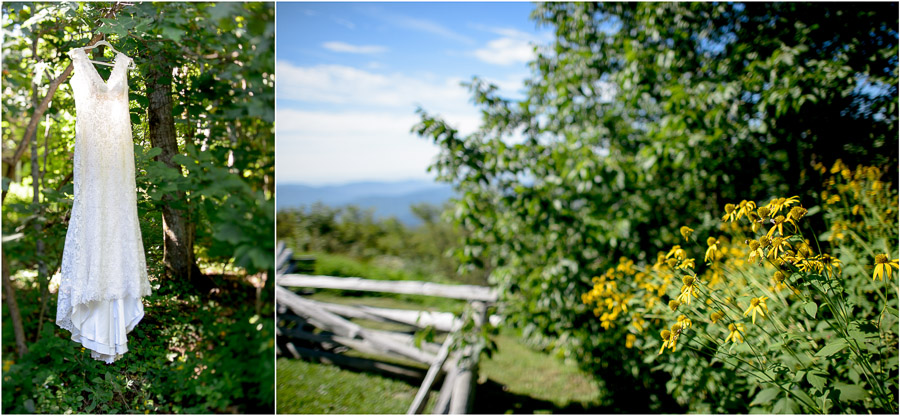 Summer Wintergreen wedding details of dress by Tall and Small Photography