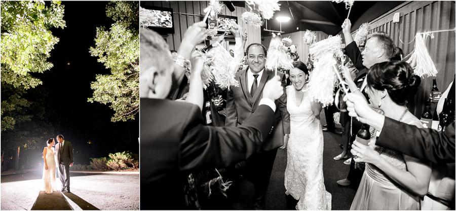 Fun and dramatic nighttime wedding portraits at Wintergreen wedding