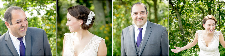 Gorgeous and fun bride and groom portraits at Wintergreen Resort wedding