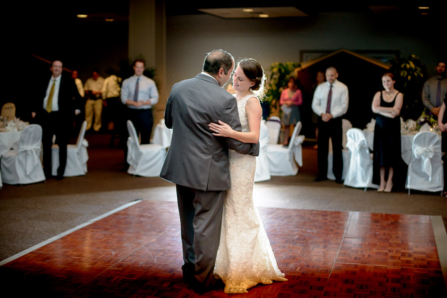 Fun and romantic first dance at Wintergreen, Virginia wedding