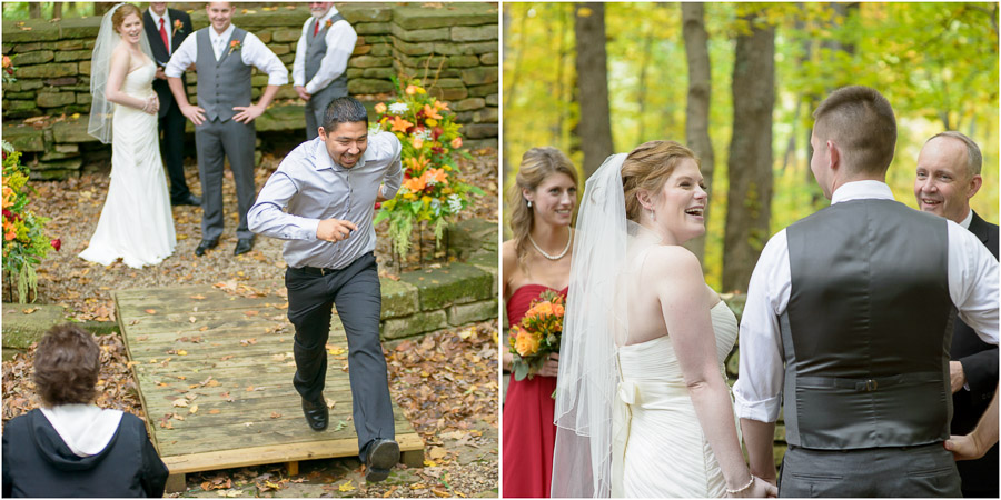 Hilarious moment during wedding ceremony near Bloomington, Indiana