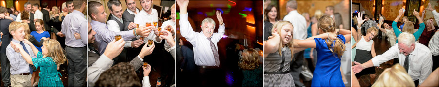Funny and cool moments on the dance floor at Sanctuary on Penn wedding