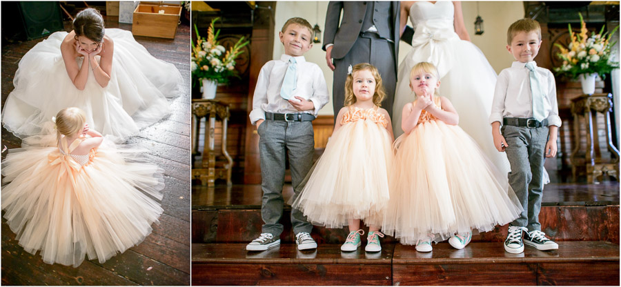 super cute kiddos (flower girls, ring bearers) at Sanctuary on Penn wedding