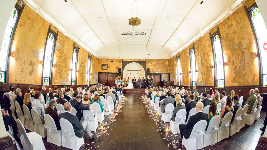 Gorgeous ceremony photograph at Sanctuary on Penn wedding