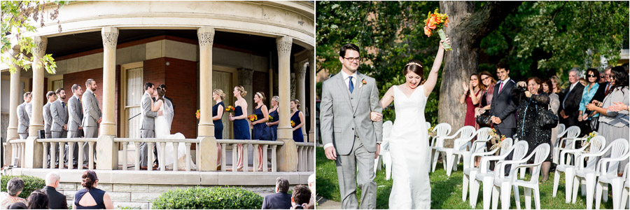 Wedding on the front porch of the Propylaeum in downtown Indy (TALL+small)
