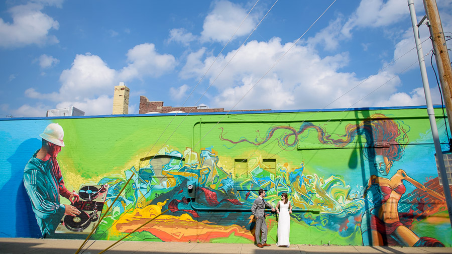Awesome Indianapolis Urban Wedding Graffiti Photo by TALL+small.