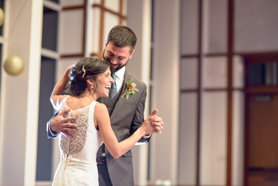 Sweet and fun first dance as husband and wife at Butler University wedding
