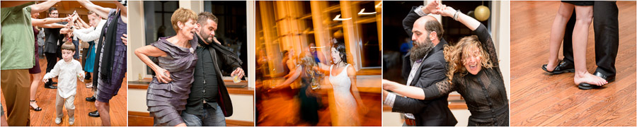 Funny and cute moments on the dance floor at Butler University wedding