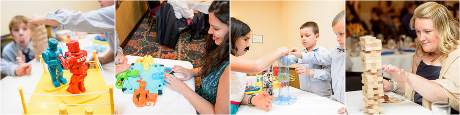 Fun games and toys at Bloomington Indiana wedding reception