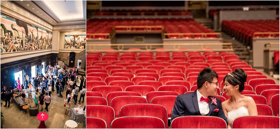 IU Auditorium Wedding Photos