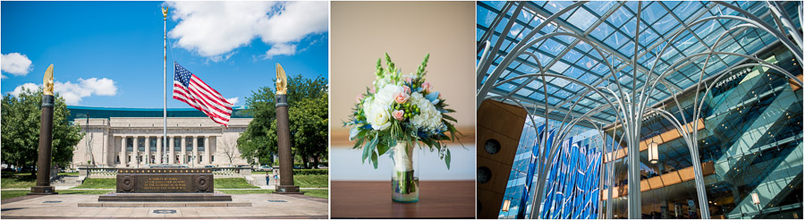 Indiana Central Library Wedding Photos