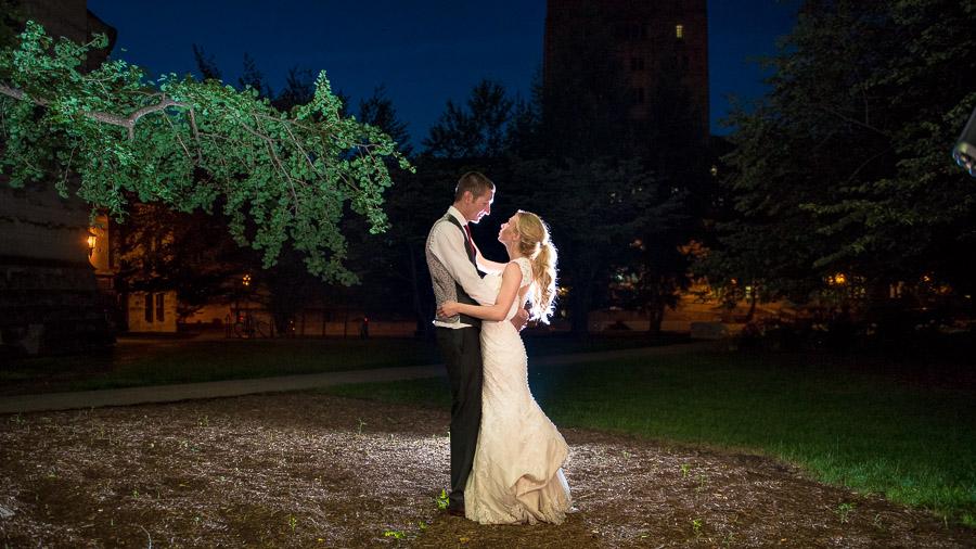 Night Wedding Portraits Indiana Wedding
