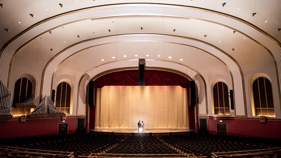 IU Auditorium Wedding Bloomington IN
