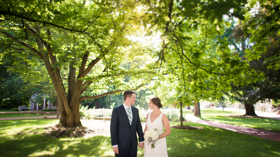 Indiana University Wedding Photos Rose Well House