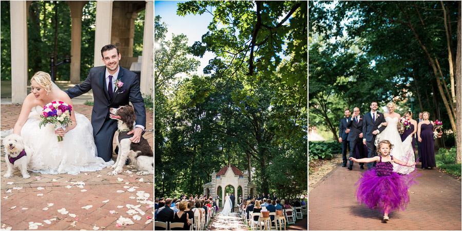 Indiana University Wedding Photography Rose Well House Ceremony