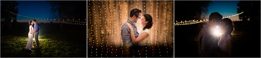Creative Nighttime Wedding Photos, Bloomington IN