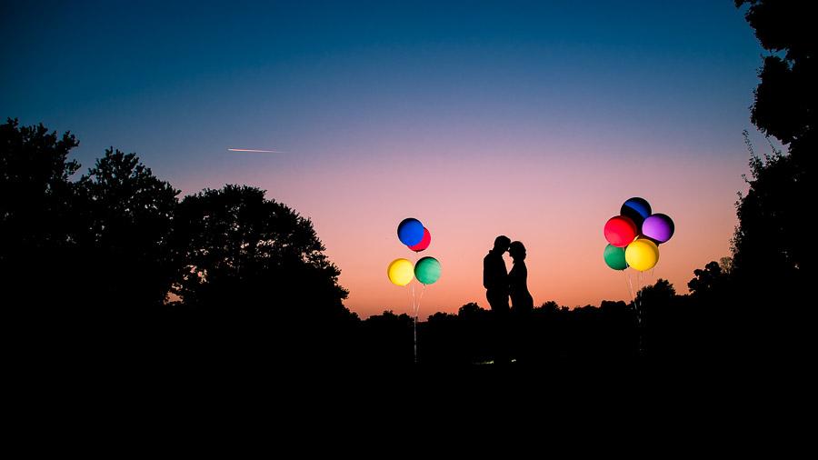 Creative Nighttime Strobist Wedding Photos