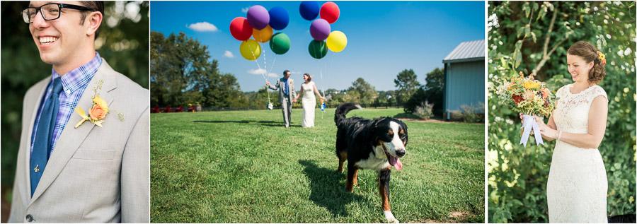 Sycamore Farm Fall Wedding Pics, Cute Dog!