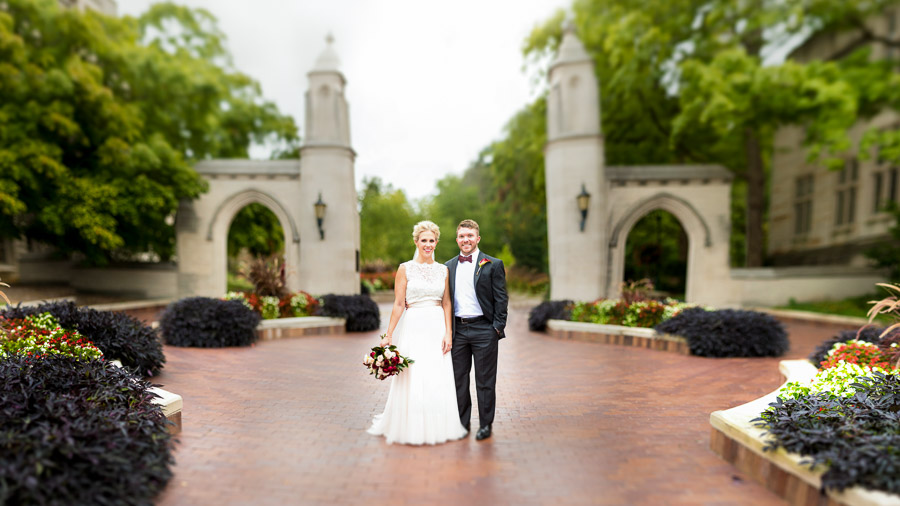 IU Bloomington Wedding Photography Sample Gates