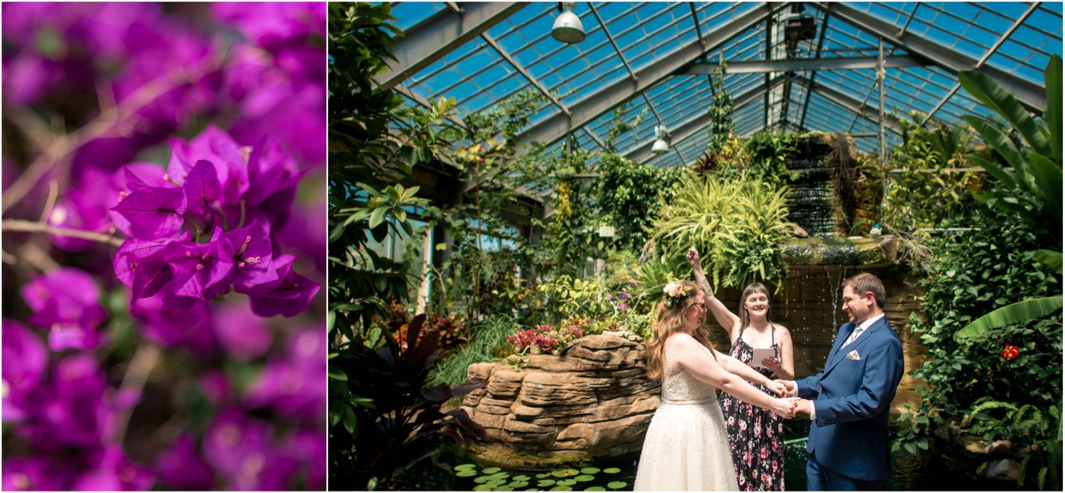 Garfield Park Conservatory Wedding.Fountain Square Wedding Photography Indianapolis Vanessa Chance