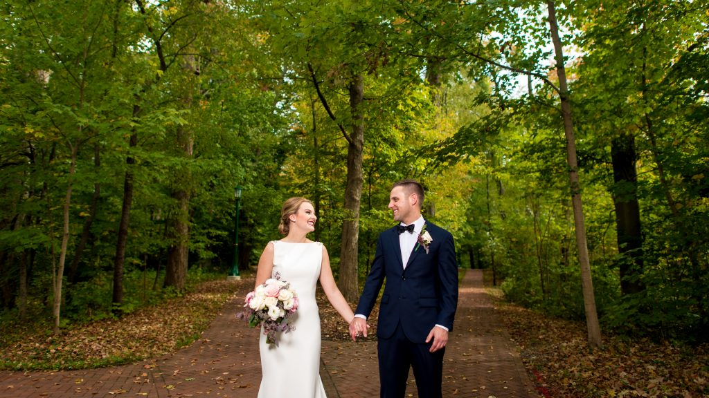 Madisen + David's Wedding Photography at the Rose Well House of IU Bloomington