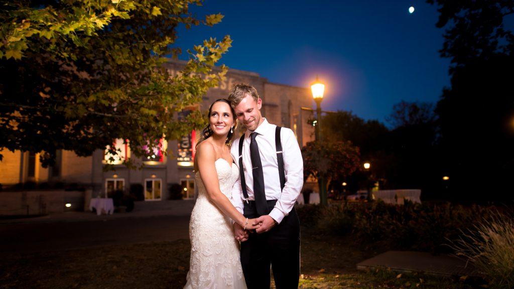 IU Auditorium Night Wedding Photos