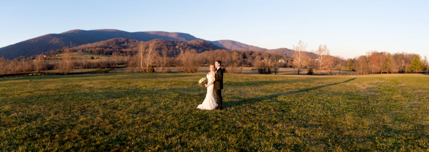 Virginia Fields and Mountains Wedding