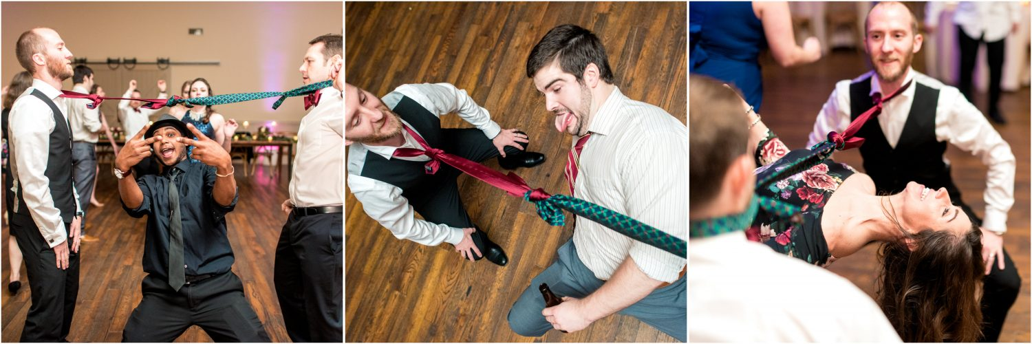 Tie Limbo at a wedding!