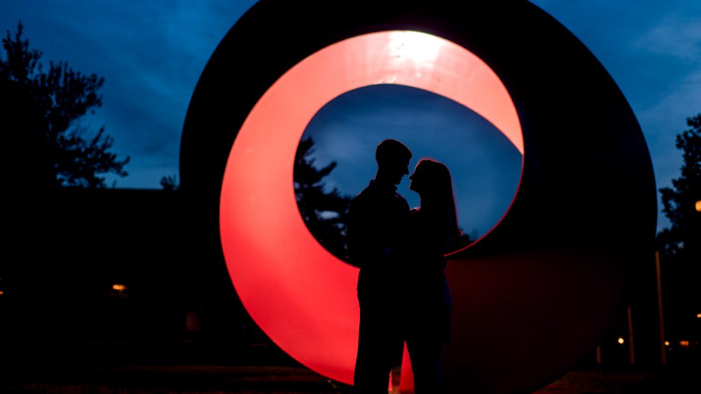 Colorful and geometric engagement photos