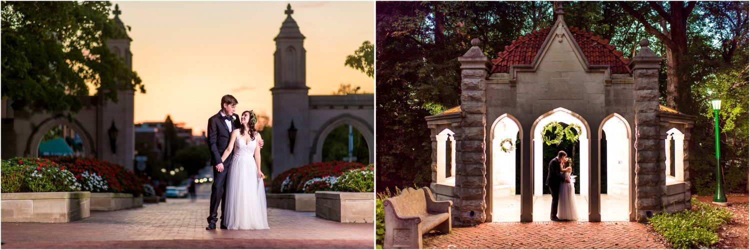 Sample Gates and Rose Well House Wedding Photos at IU