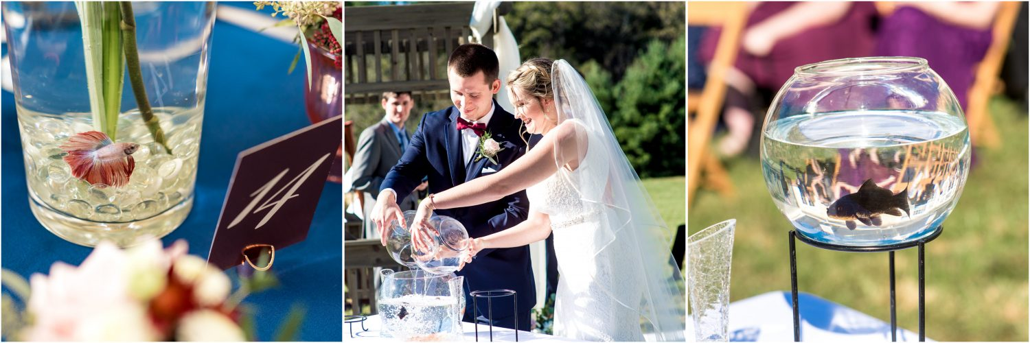 Fish Bowl in Wedding Ceremony