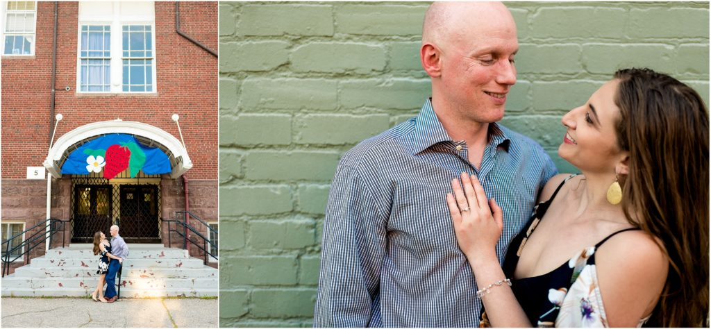 Becky + Rob's downtown Richmond engagement photos