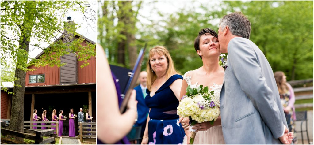 Outdoor wedding ceremony at Bold Rock Hard Cider