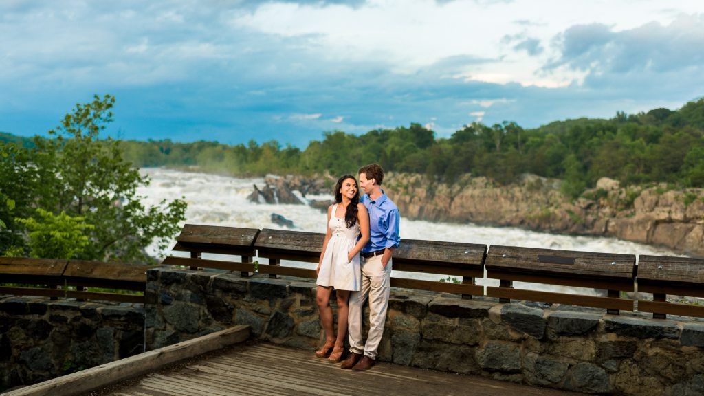 Sam and Bryan's Great Falls Park Engagement Photos