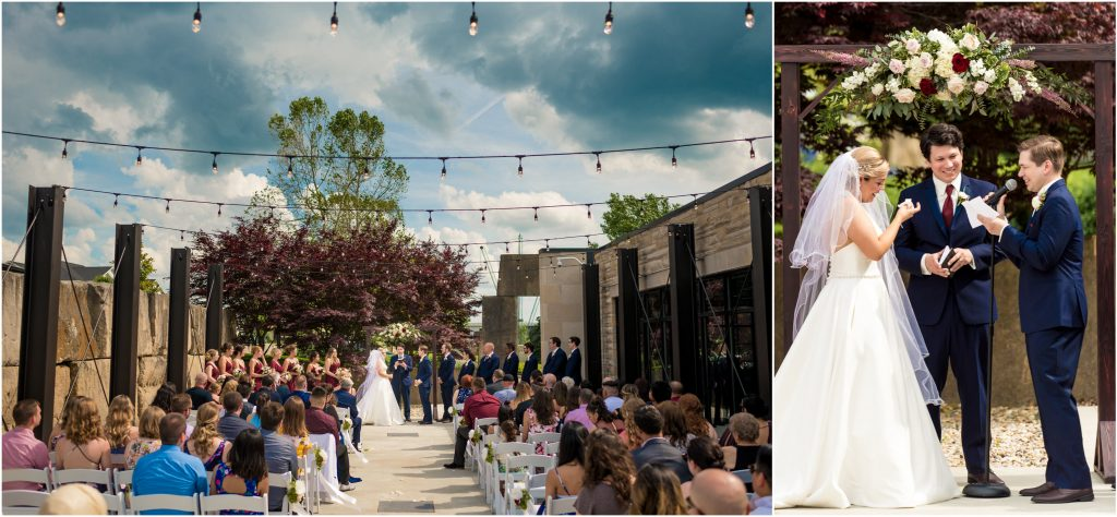 Sam + Jeremiah's east patio Woolery Mill wedding