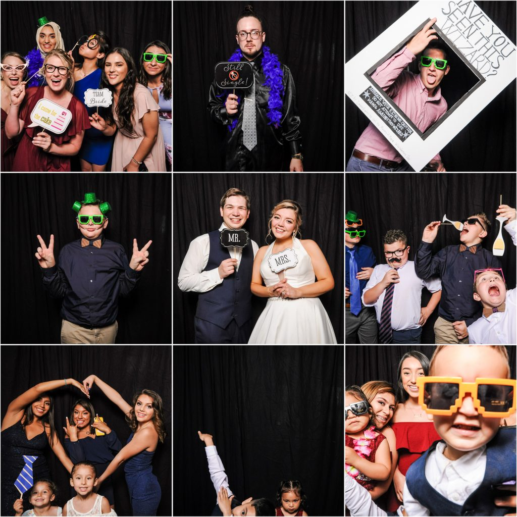 Sam + Jeremiah's photobooth at their Bloomington wedding
