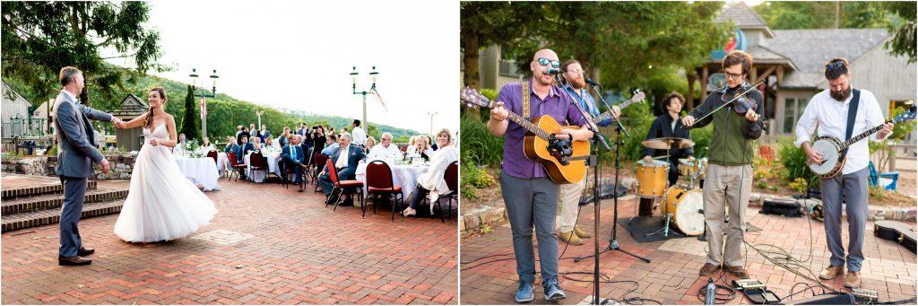 wintergreen wedding reception at the blue ridge terrance