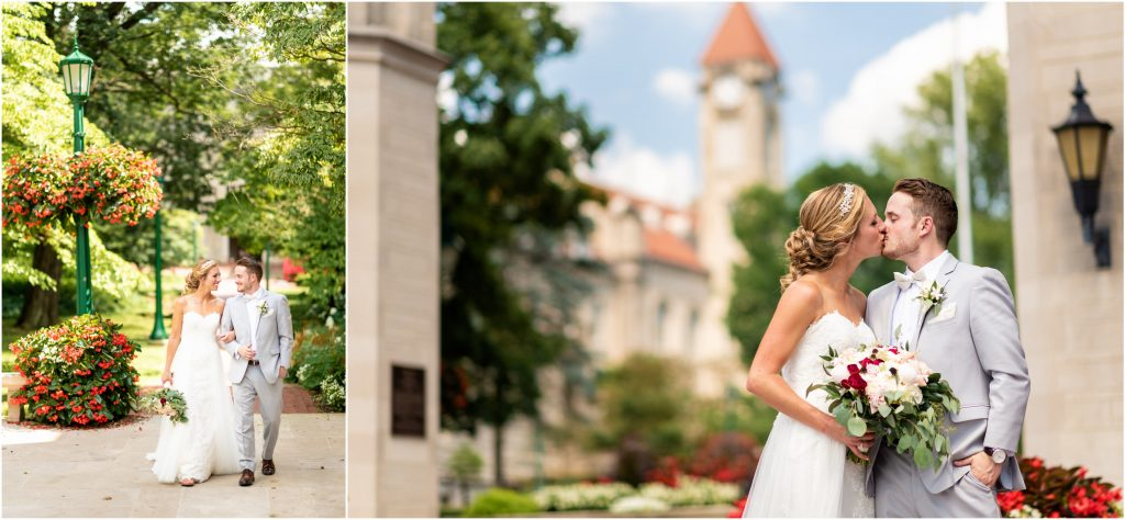 couple at the sample gates for their iu wedding