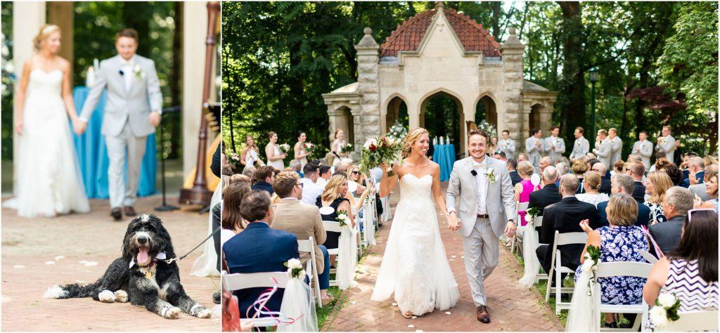 rose well house wedding ceremony photos