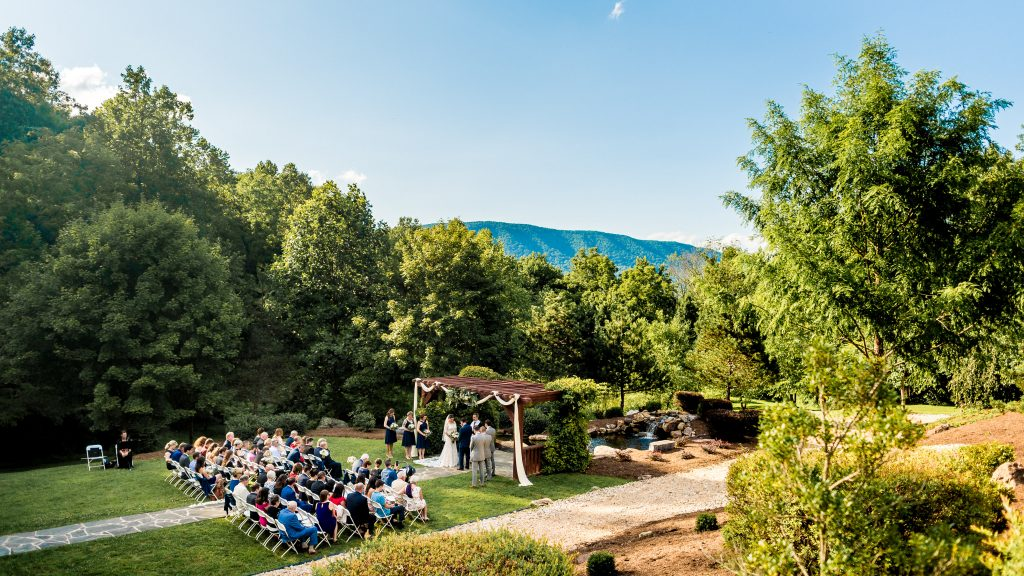 House Mountain Inn Wedding Ceremony Photo