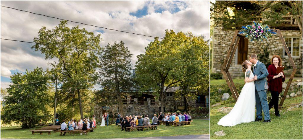 Wedding ceremony at Melrose Caverns