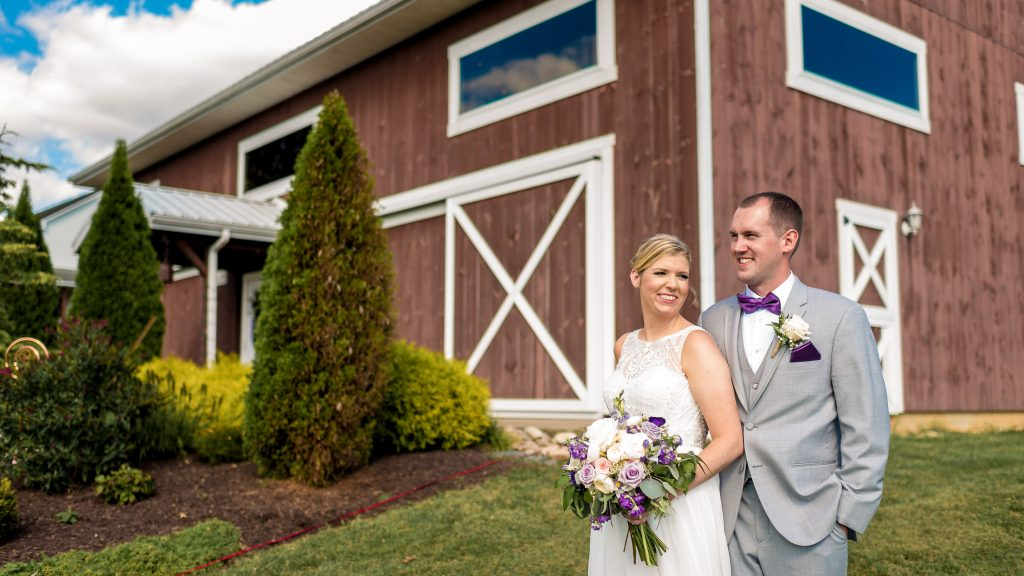 Wedding Couple at The Barn at Kline's Mill in Linville, VA