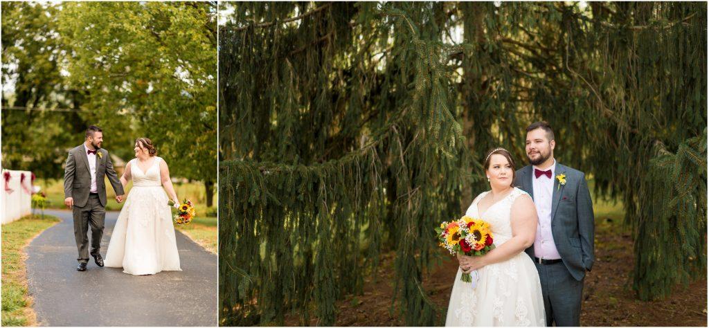 salem va outdoor backyard wedding