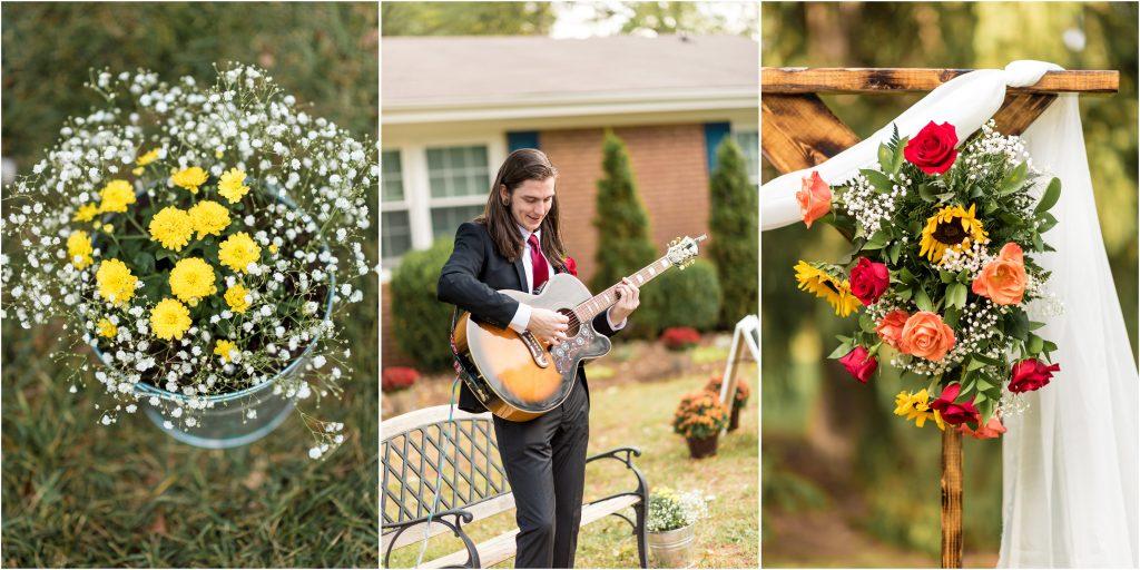 roanoke va backyard wedding photos