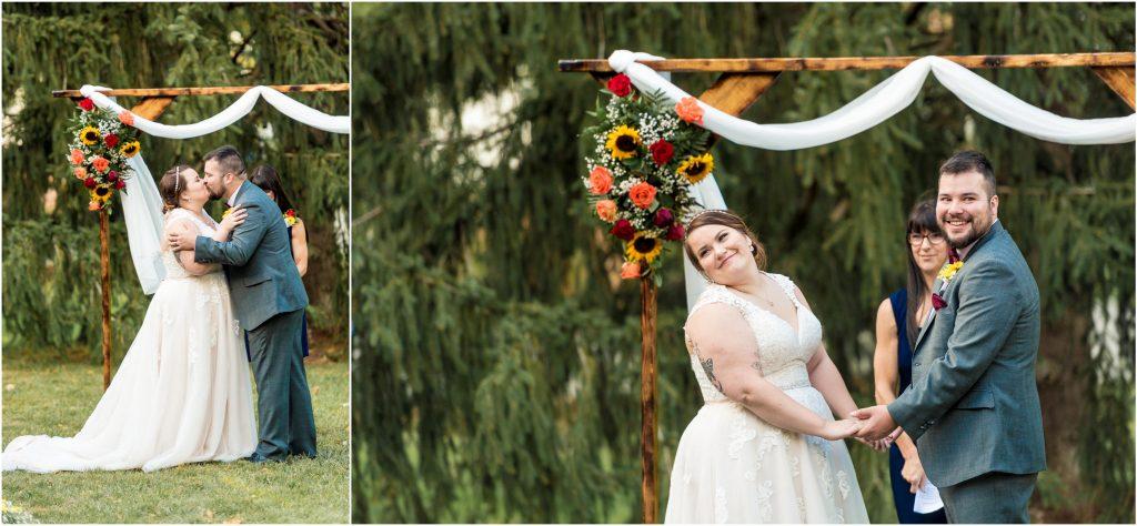 backyard wedding photos in salem va