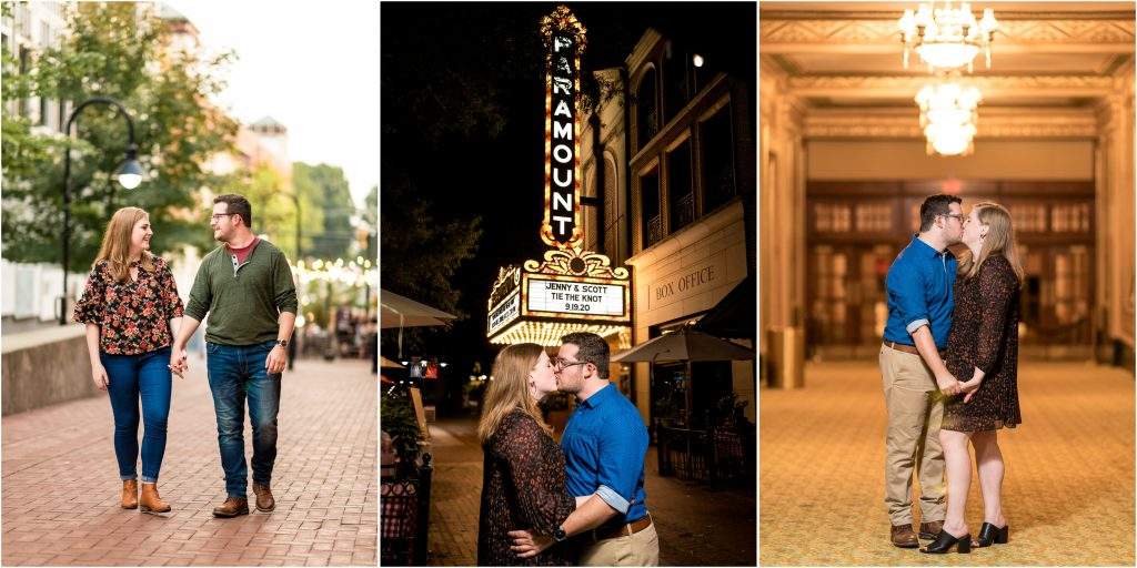 downtown mall engagement photos in charlottesville