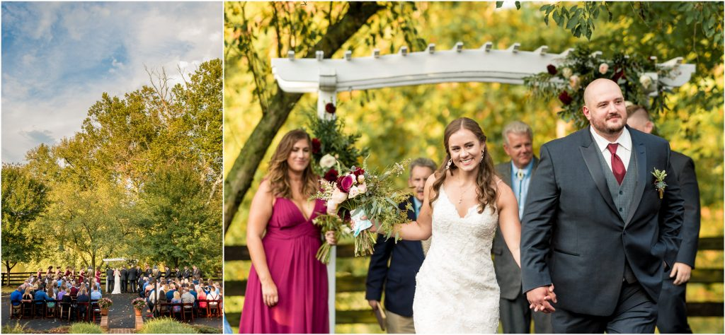 rivercrest farm wedding ceremony in elkton, va